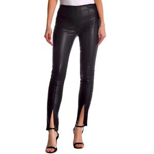 BlankNYC High Rise Faux Leather Split Ankle Pants